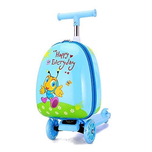 Niños Scooter Maleta, equipaje de niños Vespa, del equipaje del balanceo bolsa de lona, niños equipaje Ride-On paseo en el cochecito de equipaje, equipaje de viaje y bolsa de almacenamiento,
