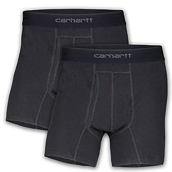 Carhartt Men s 5  Inseam Cotton Polyester 2 Pack Boxer Brief Black 3XL