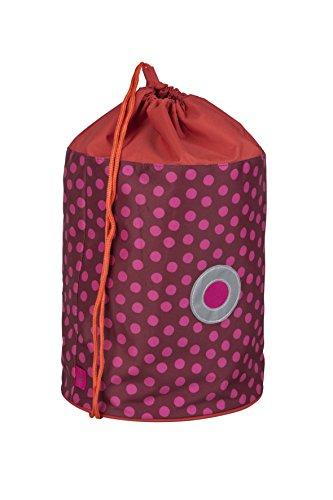 LÄSSIG Kinder Sporttasche Mädchen Junge Schule Kindergarten Sportbeutel Seesack / School Sportsbag, Dottie rot