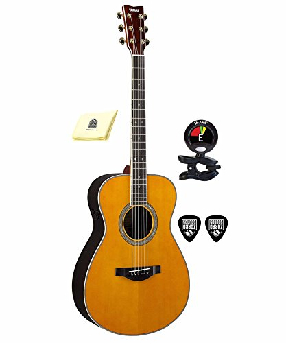 Yamaha LS-TA 6 String Acoustic Electric Guitar Package Includes Guitar Tuner with Guitar Picks and Zorro Sounds...