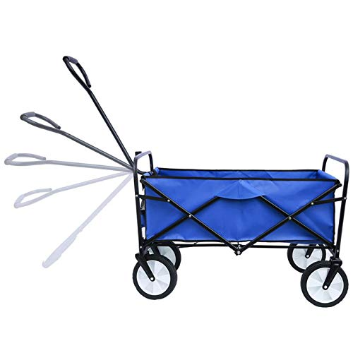N \ A Folding Outdoor Utility Wagon, Folding Wagon Cart Garden Trolley Carts Four Wheel Drive Car Suitable for outdoor barbecue, picnic, travel portable large capacity cart