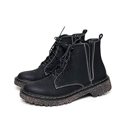 Shukun enkellaarsjes De platte onderste herfstlaarzen vrouwelijke dunne winterMartin nodigt vrouwelijke wilde zwarte korte laarzen van de studenten
