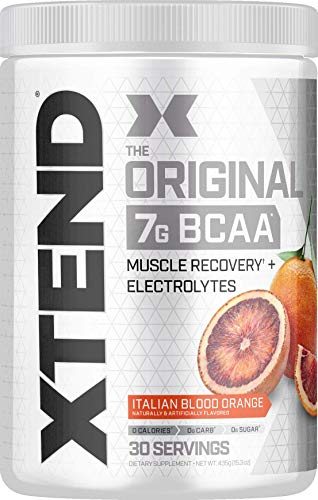 XTEND Original BCAA Powder Italian Blood Orange | Sugar Free Post Workout Muscle Recovery Drink with Amino Acids | 7g BCAAs for Men & Women | 30 Servings