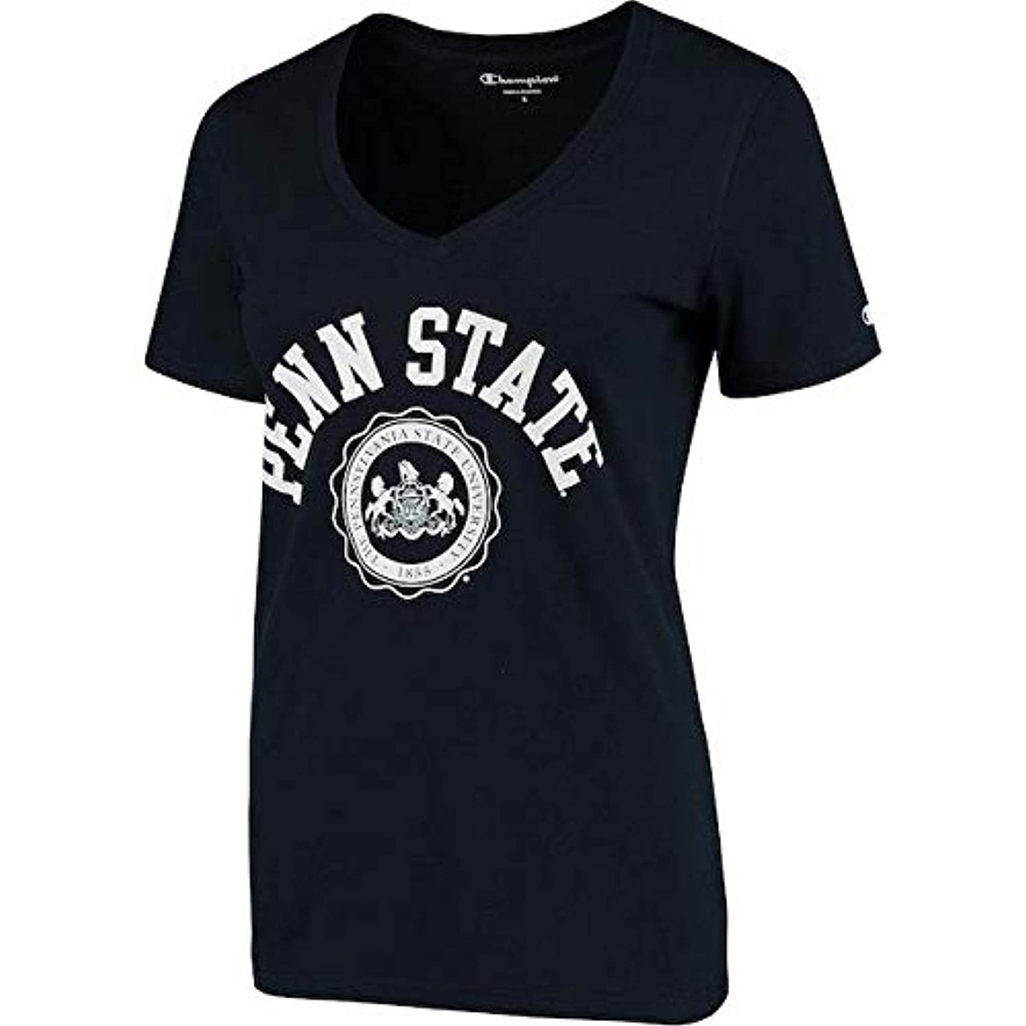 機会有害仕様Champion Champion Penn State Nittany Lions Women's Navy College Seal V-Neck T-Shirt スポーツ用品 【並行輸入品】