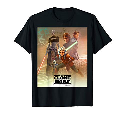 Star Wars Celebration Mural The Clone Wars Logo T-Shirt