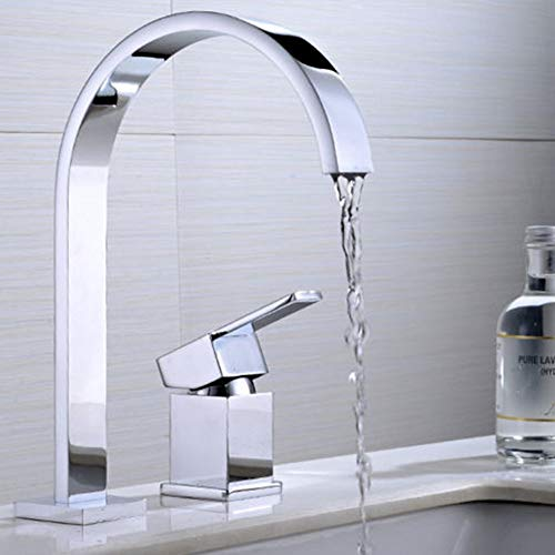 QCSMegy Cobre doble agujero lavabo lavabo lavabo lavabo caliente y frío grifo baño frío y caliente