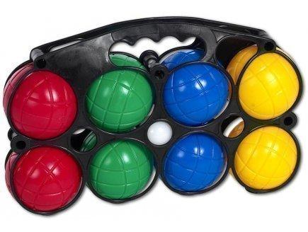 Jeu plein air - panier de 8 boules de petanque en plastique
