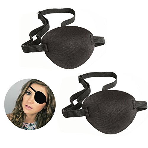 Pirate Eyes Parches, 2 Piezas Eye Patch Parches Ojo