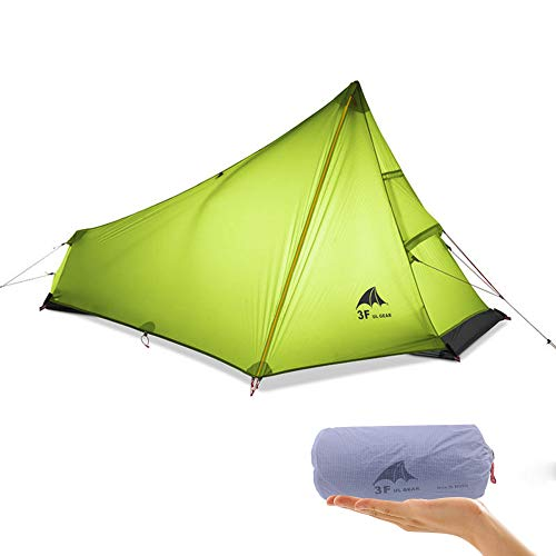 KIKILIVE 3F UL gear Oudoor Ultralight Camping Tent 3 Season 1 Single Person Ultralight Tent Waterproof Silicon Coating for Summer Mesh Camping Tent
