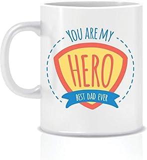 You are my hero Dad White Ceramic Mug