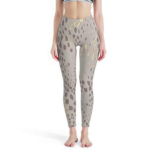 Charzee dames luipaard patroon yoga hardloopbroek compressiewerking & Quick-Dry-functie capri leggings sport yoga joggingbroek Tummy control punt