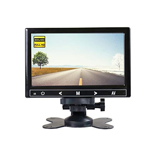 7 Zoll HDMI tragbarer Monitor TFT LCD Full HD 800x480 tragbarer Monitor, HDMI-Kunststoffschale schwarz,JOHNWILL