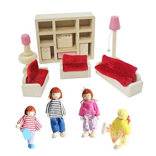 UYT Simulación De Madera De Bricolaje Muebles Pequeños Juguetes, 1:12 Casa De Muñecas Muebles Pequeños, 1 Juego Muñeca De Madera Colorida Accesorios De Casa En Miniatura Muebles Baño Casa Casa