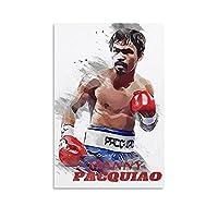 スポーツポスターボクシングファイティングプレーヤーマニーパッキャオ4キャンバスアートポスターとウォールアート写真プリント家族の寝室研究室の装飾ポスター16x24インチ(40x60cm)