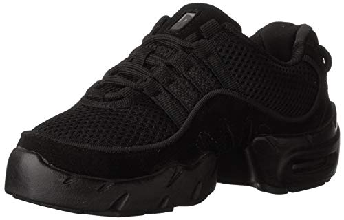 Bloch womens Boost Mesh Sneaker Dance Shoe, Black, 8.5 US