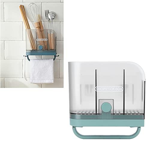 Jazar Soporte para Palillos Estante de Secado, Estante para Palillos Sin Perforaciones con Bandeja de Goteo Desmontable para Palillos Pajitas para lavavajillas