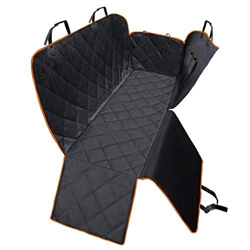 Mochilas para Perros Negro Cubierta Asiento de Perro Coche para Mascotas y Niños con Cinturón de Seguridad para Mascotas y Bolsa de Almacenamiento, Impermeable, Lavable, Antideslizante, Se Adapta a T