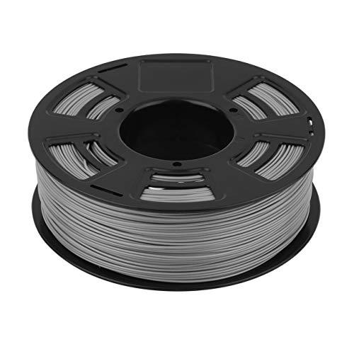 One Roll 1KG 1.75mm ABS Filamento Impresora 3D Material de impresión Suministros Rollo Adecuado para Impresora 3D Pluma Impresora 3D (gris) Jasnyfall