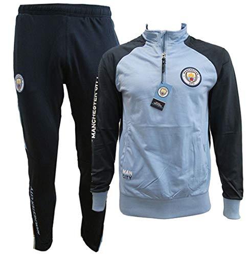 Manchester City F.C. Trainingsanzug - Jacke & Hose - Original Mit Offizieller Lizenz Tracksuit Trainingshose (XL EXTRA Large)