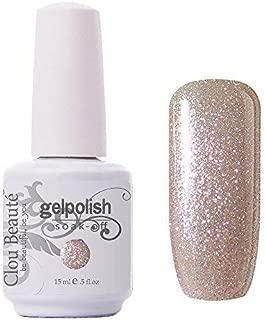Clou Beaute Gelpolish 15ml Soak Off UV Led Gel Polish Lacquer Nail Art Manicure Varnish Color Glitter Champagne 1591