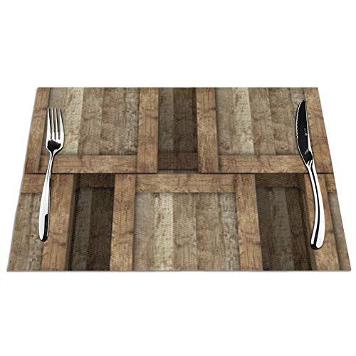 Bernice Winifred 3D Render Pile Cajas Antiguas Manteles Individuales de Mesa de Cocina, Antideslizantes y Lavables, ecológicos, Ideales para la Cocina tamaño 45 * 30 * 0,1 cm 4 Piezas