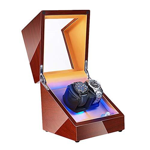 Jlxl Enrollador Reloj Automático Motor Súper Silencioso Luz Fondo LED Adaptador CA Y Batería Exterior Pintura Piano Almohada Reloj Suave Accesorios (Size : 2+0)