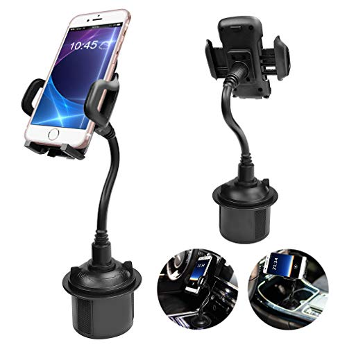 BTMAGIC Cell Phone Car Cradles & Mounts,Universal Adjustable Cup Holder for iPhone Xs/Max/X/XR/8/8 Plus,Samsung Note 9/ S10 / S9/ S9 / S8,GPS