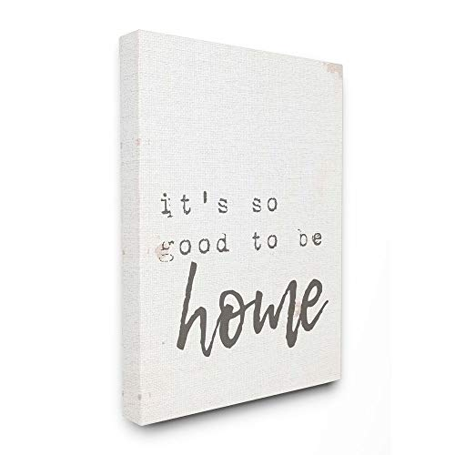 Stupell Industries Its So Good to Be Home Typewriter Typography Canvas Wall Art, 24 x 30, Design by Artist Daphne Polselli 24 X 30 Giclee Canvas