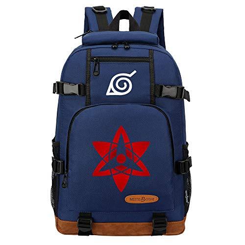 CXWLK Mochila Resistente Al Agua, Ideal para Viajes Y Actividades Al Aire Libre, para Hombre Mujer Gran Capacidad Mochila De Gran Capacidad,Naruto,Blue,46cmX29cmX13cm