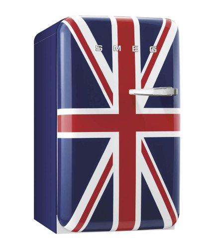 Smeg FAB10LUJ - Frigorifero con congelatore, bandiera Union Jack/apertura a sinistra, 101 litri, scomparto congelatore, 13 litri