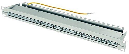 TELEGÄRTNER J02023A0052 Patch Panel K Class EA(tief) 24x RJ45, 48,36 cm (19 Zoll) lichtgrau