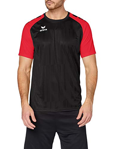 Erima Tanaro 2.0 Maillot Homme, Noir/Rouge, FR : L (Taille Fabricant : L)