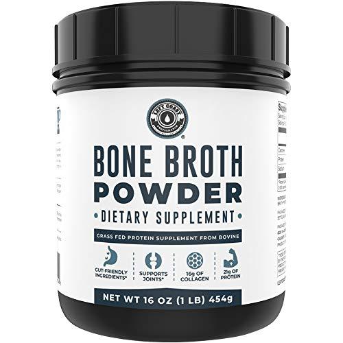 Bone Broth Protein Powder Grass Fed Beef Unflavored. Rich in Collagen, Glucosamine, Gelatin, Paleo Protein Powder, Gut-Friendly*, Non-GMO Ingredients, Dairy-Free Protein Powder