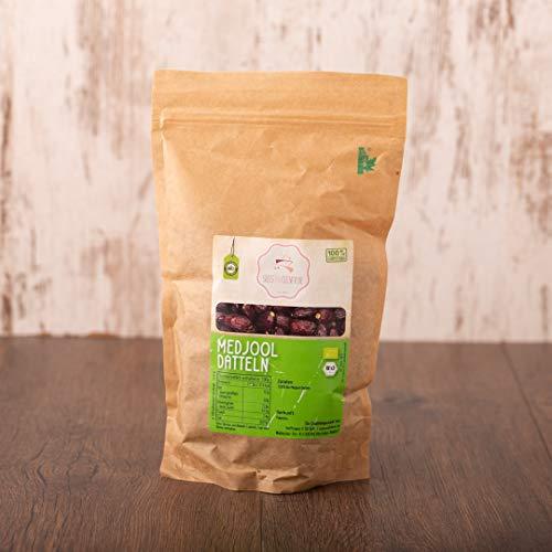 süssundclever.de® | Bio Medjool Datteln | 1 kg | Ernte 2019 | kompostierbare Verpackung - saftig und sehr groß