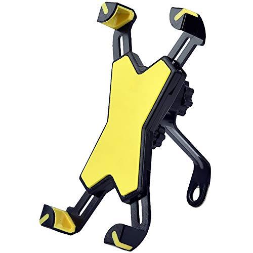 XMSIA Ajustable Bicicleta Titular de teléfono móvil eléctrico Bicicleta Rider Manija Soporte Manila Universal Soporte Universal (Color : Yellow, Size : 18x9cm)