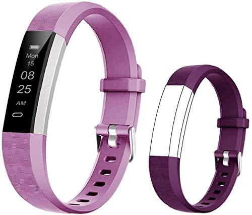 BIGGERFIVE Pulsera Actividad Inteligente Reloj Inteligente para Niños Niñas, Impermeable IP67 Deportivo Smartwatch con Podómetro Monitor de Sueño Contador de Caloría y Despertador Silencioso ⭐