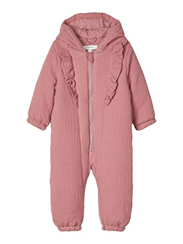 NAME IT Baby-Mädchen NBFMALOU Frill Suit Schneeanzug, Nostalgia Rose, 62-68
