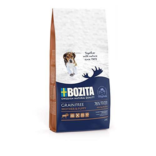 Bozita Grain Free Mother & Puppy 12 kg | Hundetrockenfutter für Welpen, Junghunde und trächtige und säugende Hündinnen aus Schweden getreidefrei