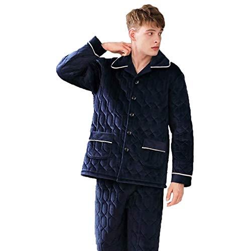 LMCLJJ Männer Kleidung männer Pyjama bürsgruppen verdicken samt warme Cardigan...