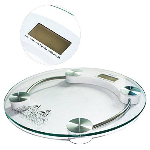 Balança Digital Banheiro Vidro Temperado Academia cozinha 180kg