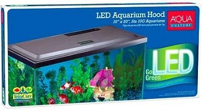 Aqua Culture LED Hood for 10 Gallon Aquariums with Long-life LED, Low-profile hood