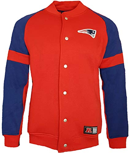 Majestic New England Patriots NFL Jeiter Giacca in pile Letterman Rosso M