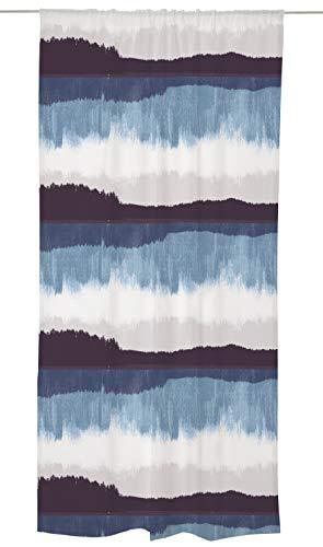 Vallila Vorhang, Baumwolle 83prozent, Polyester 17prozent, blau, 240cm x 140cm