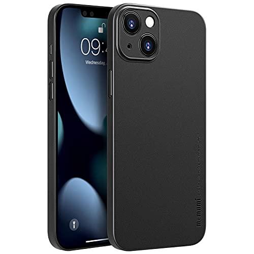 memumi [Versión de Actualización Funda para iPhone 13 Mini Delgado Mate 0.3 mm Ultrafina para iPhone 13 Mini 2021 Funda Protectora Ultra Slim con Anti- Rasguño/Resistente Huellas Negro