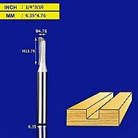 BXU-BG タイドウェイストレートルータビット1/2 1/4シャンクダブルフルートプランジフライス超硬木工トリミングスロッティングツール (Cutting Edge Length : Z00103)