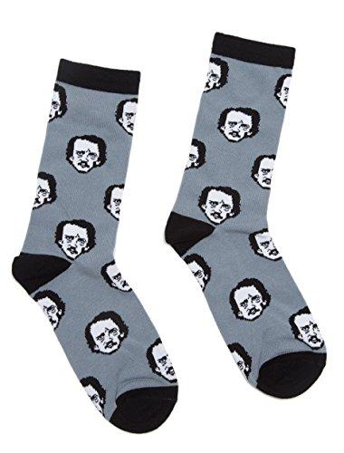 Out of Print Unisex Edgar Allan Poe-ka Dot Socks...