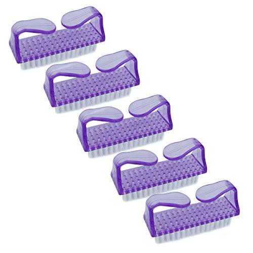 Vivezen ® Lot de 5 brosses à ongles, nettoyantes - 4 coloris - Norme CE