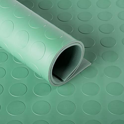 Flachnoppen Gummiläufer 4mm (145cm breit) grün | Noppenmatten | Gummimatten | Meterware
