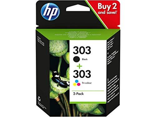 HP 303 Black + Color Lot de 2cartouches d'encre et 100feuilles de papier remplaçables pour la photocopie, pour HP Envy Photo 6230 7100 Series 7130 7134 7800 Series 7830 7834, Tango 100, Tango X 110