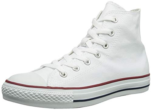 Converse Chuck Taylor All Star Hi Top, Zapatillas Mujer, Blanco Optical White, 44 EU